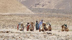 Beduiner i läger fotografering för bildbyråer