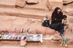 beduinfamilj Arkivfoto