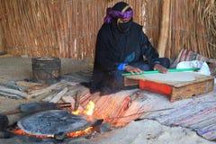 Beduinfamilj Arkivbild