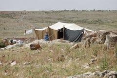 beduinhus syria royaltyfria foton