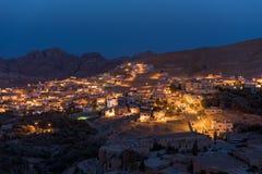 Beduinische Häuser in PETRA, Jordanien Stockfotografie