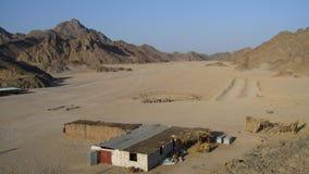 Beduinisches Dorf stockfoto