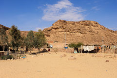 Beduinisches vilage um Dahab Stockfoto