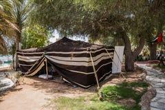 Beduinisches Zelt im touristischen Markt bei Abu Dhabi, UAE Stockfotografie