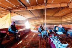 Beduinisches Zelt in Wadi Rum stockfotos