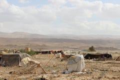 Beduinläger i Jordanien Arkivfoto