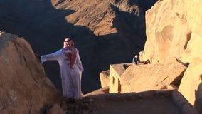 Beduino. Monte Sinaí. Egipto almacen de video