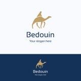 Beduino sul logo del cammello Immagine Stock