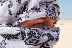 Beduino. Young beduino looks straight,blonde Stock Photos