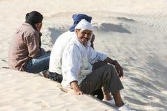 Beduinos en Sáhara Foto de archivo