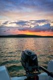 Bedöva landskap, når att ha fiskat Royaltyfri Fotografi