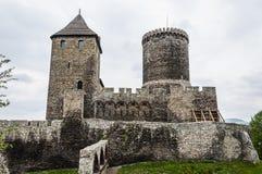 Bedzin哥特式城堡在西里西亚的在波兰 库存图片