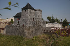 Bedzin哥特式城堡-缩样 免版税库存图片