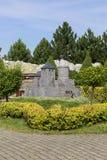 Bedzin城堡波兰,微型公园复制品, Inwald,波兰 免版税库存照片