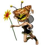 Bee 1. 3d render of Bee 1 Stock Image