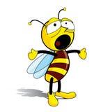 Bee. Awakening cartoon bee – vector illustration Stock Photos