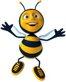 Bee. Fun bee, 3d generated picture royalty free illustration