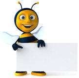 Bee. Fun bee, 3d generated picture Royalty Free Stock Image
