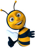 Bee. Fun bee, 3d generated picture Stock Photography