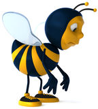 Bee. Fun bee, 3d generated picture Stock Image