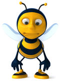Bee. Fun bee, 3d generated picture Royalty Free Stock Photography