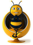 Bee. Fun bee, 3d generated picture Royalty Free Stock Images