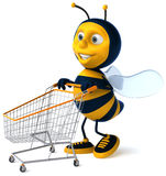 Bee. Fun bee, 3d generated picture Royalty Free Stock Photo