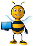 Bee. Fun bee, 3d generated picture Stock Photo