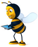 Bee. Fun bee, 3d generated picture Stock Photos