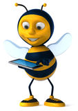 Bee. Fun bee, 3d generated picture Royalty Free Stock Photos