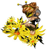 Bee 3. 3d render of Bee 3 Royalty Free Stock Images