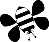 Bee. Black and white isolated bumble bee icon Stock Images