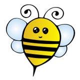 Bee. Happy sweet Bumble Bee isolated on white