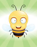 Bee. A cartoon bee flying in the air vector illustration