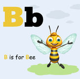 Bee with alphabet. 3d rendered illustration of Bee with alphabte Stock Photography