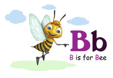 Bee with alphabte Stock Images