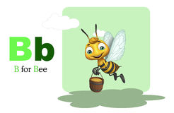 Bee with alphabte. 3d rendered illustration of Bee with alphabte Stock Images