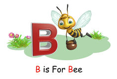 Bee with alphabte. 3d rendered illustration of Bee with alphabte Stock Image