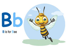Bee with alphabte. 3d rendered illustration of Bee with alphabte Stock Photo