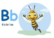 Bee with alphabte Stock Photo