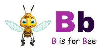 Bee with alphabte Stock Image