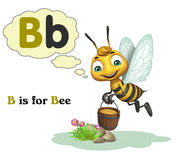 Bee with alphabte. 3d rendered illustration of Bee with alphabte Stock Photos
