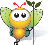 Bee And Stem Stock Image