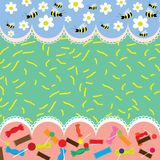 Bee background Royalty Free Stock Images