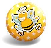 Bee badge Royalty Free Stock Photo