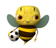 Bee with a ball. The bee with a ball stock illustration