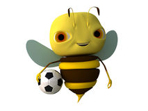 Bee with a ball. The bee with a ball vector illustration