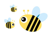 Bee. S cartoon isolated in white background Royalty Free Stock Images