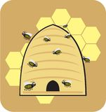 Bee bees honey honeybee sweet cartoon style vector illustration
