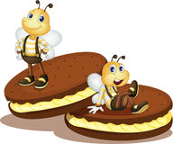 Bee biscuits Royalty Free Stock Photography
